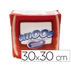 Servilleta celulosa amoos 30x30 cm 1 capas paquete de 100