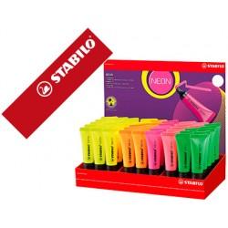 Rotulador stabilo fluorescente 72 neon expositor de 45 unidades