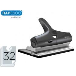 Taladror rapesco alu 95 negro ajustable 2, 3 y 4 taladros capacidad 32 hojas