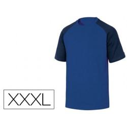 Camiseta de algodon deltaplus color azul talla xxxl