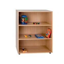 Mueble madera mobeduc intermedio estanteria haya/blanco 90x112x40 cm