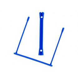 Encuadernador fastener q-connect plastico e-clips color azul caja de 100 unidades