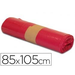 Bolsa basura industrial roja 85x105cm galga 110 rollo de 10 unidades