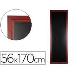 Pizarra negra liderpapel mural de madera con superficie para rotuladores tipo tiza 56x170cm
