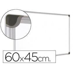 Pizarra blanca bi-office magnetica maya w ceramica vitrificada marco de aluminio 60 x 45 cm con bandeja para