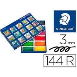 Rotulador staedtler color jumbo trazo 3 mm caja de 144 unidades surtidas 12 x color