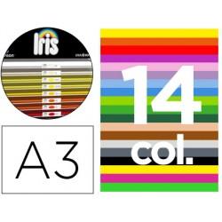 """Cartulina guarro a-3 29,7x42 cms contenido """"b"""" colores surtidos 185 grs"""