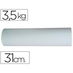 Papel blanco bobina de 31 cm 3,5 kg