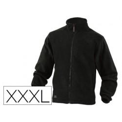 Chaqueta deltaplus polar con cremallera 2 bolsillos color negro talla 3xl