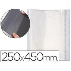 Forralibro pp ajustable adhesivo 250x450mm -blister