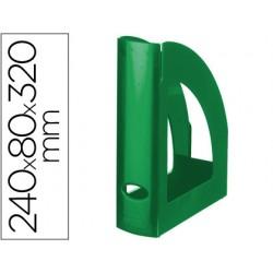 Revistero plastico q-connect verde opaco