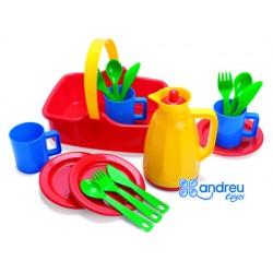 Juego dantoy picnic set 3 personas 19,5x17,5x23,5 cm