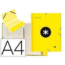 Carpeta liderpapel antartik clasificadora a4 12 departamentos gomas carton forrado color amarilla