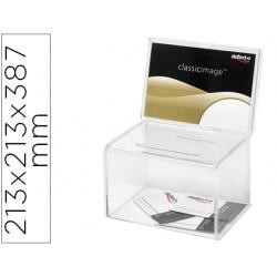 Buzon de sugerencias archivo 2000 color cristal transparente 213x213x387 mm