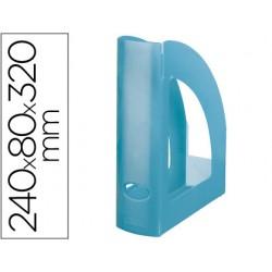 Revistero plastico q-connect turquesa translucido
