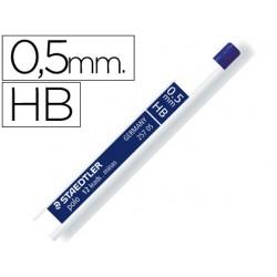 Minas staedtler grafito 0,5 mm hb polo 257 tubo con 12 minas