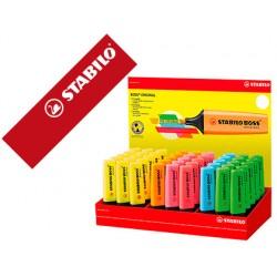 Rotulador stabilo boss fluorescente 70 expositor de 45 unidades colores surtidos