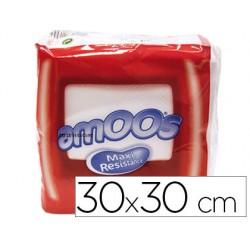 Servilleta celulosa amoos 30x30 cm 1 capas paquete de 70 unidades
