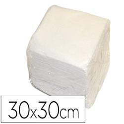 Servilleta de papel 30x30cm blanca una capa paquete de 70