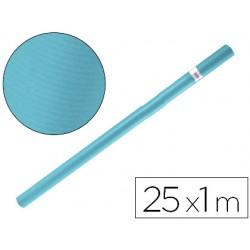 Papel kraft liderpapel azul turquesa rollo 25x1 mt