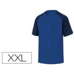 Camiseta de algodon deltaplus color azul talla xxl