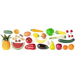 Juego miniland frutas hortalizas y frutos secos 36 piezas