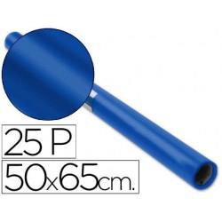 Papel charol rollo azul cobalto 25 hojas de 50x65 cm