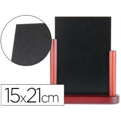 Pizarra negra liderpapel doble cara de madera con superficie para rotuladores tipo tiza 15x21cm