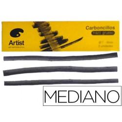 Carboncillo artist medianos 5-6 mm caja de 6 barras