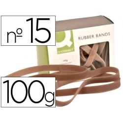 Bandas elasticas q-connect 100 gr 150x9 mm numero 15