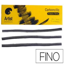 Carboncillo artist fino 3-4 mm caja de 10 barras
