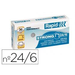 Grapas rapid n 24/6 galvanizadas strong caja de 1000 grapas