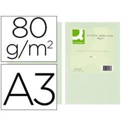 Papel color q-connect din a3 80 gr verde paquete de 500 hojas
