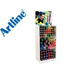 Expositor artline poster marker 96 uds colores surtidos - 51 uds 2 mm 29 uds 6 mm 16 uds 12 mm