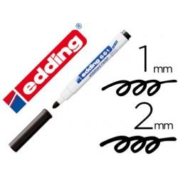 Rotulador edding para pizarra blanca 661 color negro punta redonda 1-2 mm recargable