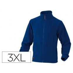 Chaqueta deltaplus polar con crremallera 2 bolsillos color azul talla 3xl