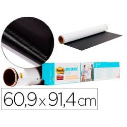 Pizarra blanca post it super sticky rollo adhesivo removible 60,9x91,4 cm