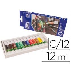 Pintura oleo artist caja carton de 12 colores surtidos tubo de 12 ml