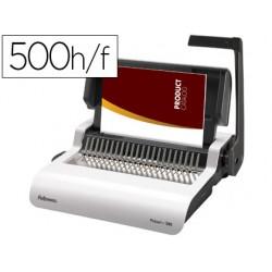 Encuadernadora manual para canutillo fellowes pulsar+300 perfora 20 hojas tamaño din a4encuaderna hasta 300 hojas