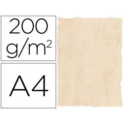 Papel pergamino din a4 200 gr color marmol beige paquete de 25 hojas