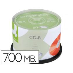 Cd-r q-connect capacidad 700mb duracion 80min velocidad 52x bote de 50 unidades