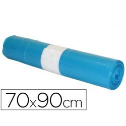 Bolsa basura industrial azul 70x90cm galga 110 rollo de 10 unidades