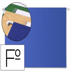 Carpeta colgante liderpapel folio azul