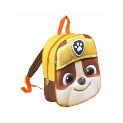 Cartera escolar patrulla canina mochila rubble 3d 30x25x9 cm