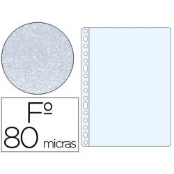 Funda multitaladro q-connect folio 80 mc piel de naranja caja de 100 unidades