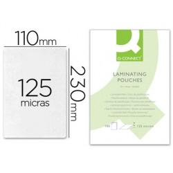 Bolsa de plastificar q-connect 110 x 230 mm 125 mc carnet de conducir caja de 100 unidades