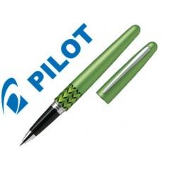 Boligrafo pilot urban mr retro pop verde claro 0,7 mm con estuche y bolsa