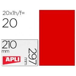 Etiqueta adhesiva apli 02880 tamaño 210x297 mm para fotocopiadora laser ink-jet caja con 20 hojas din a4 rojo
