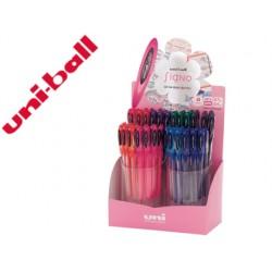 Boligrafo uni ball um-120 signo 0,7 mm tinta gel expositor de 48 colores basicos