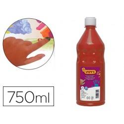 Pintura a dedos jovi 750 ml bermellon